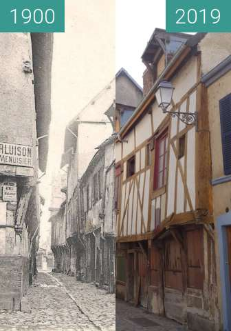 Before-and-after picture of Rue Gambey between 1900 and 2019-Mar-23