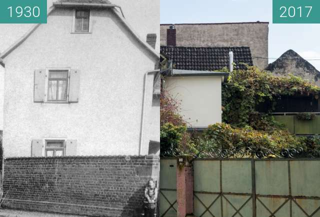 Before-and-after picture of Bad Homburg Gonzenheim, Frankfurter Landstr 130 between 1930 and 2017-Oct-03