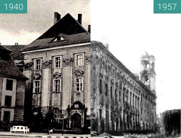 Vorher-Nachher-Bild von Jesuitenkirche  zwischen 1940 und 1957
