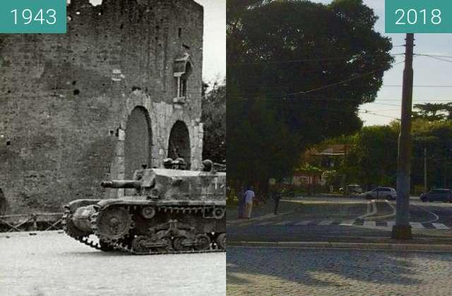 Vorher-Nachher-Bild von The Battle of Porta San Paolo, Rome, 10 September zwischen 10.09.1943 und 06.09.2018