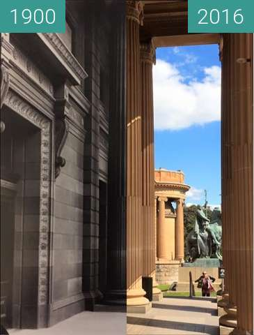 Before-and-after picture of Art Gallery of NSW between 1900 and 2016