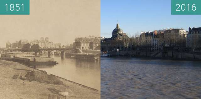 Before-and-after picture of Seine bank between 1851 and 2016-Feb-16