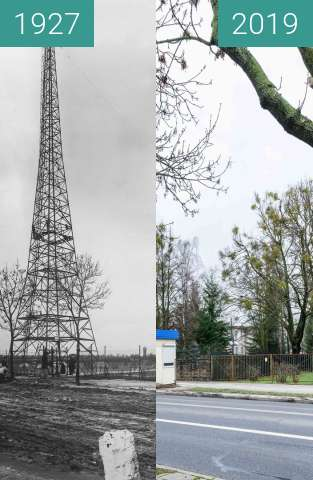 Before-and-after picture of Ulica Bukowska between 1927 and 2019-Jan-12