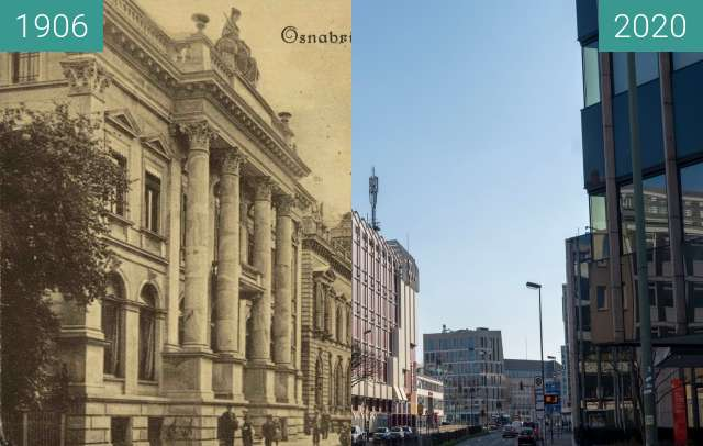 Before-and-after picture of Wittekind Strasse between 05/1906 and 03/2020