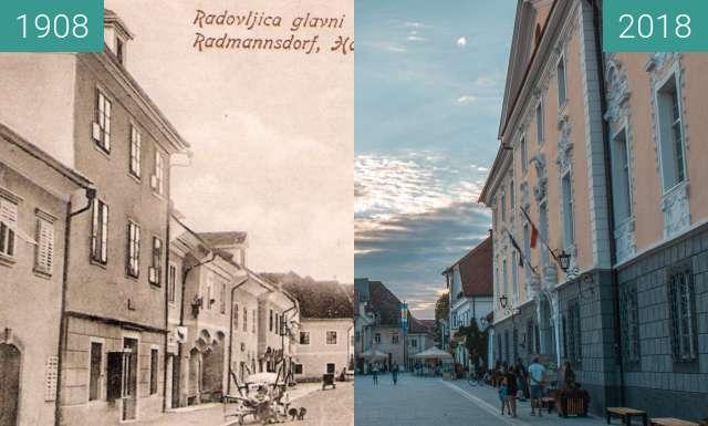 Vorher-Nachher-Bild von Linhart Square zwischen 1908 und 15.08.2018