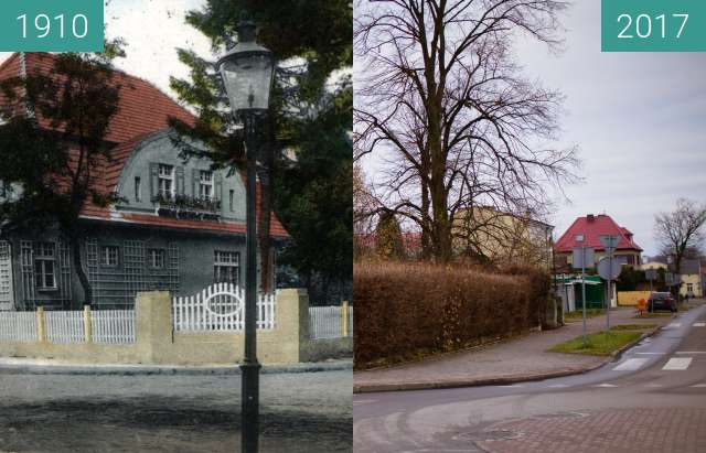 Before-and-after picture of Gryfice 3_Maja_Street between 1910 and 2017-Dec-02
