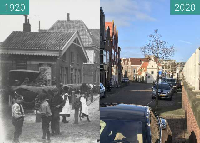 Before-and-after picture of Wageweg 1920-2020 between 1920 and 2020-Feb-05