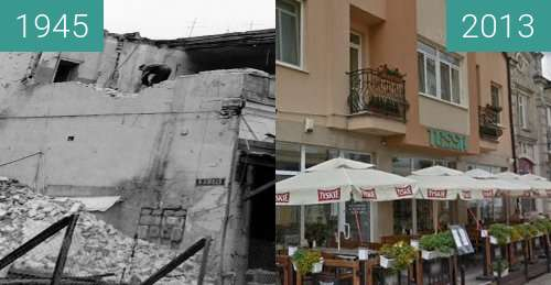 Before-and-after picture of building between 1945 and 2013