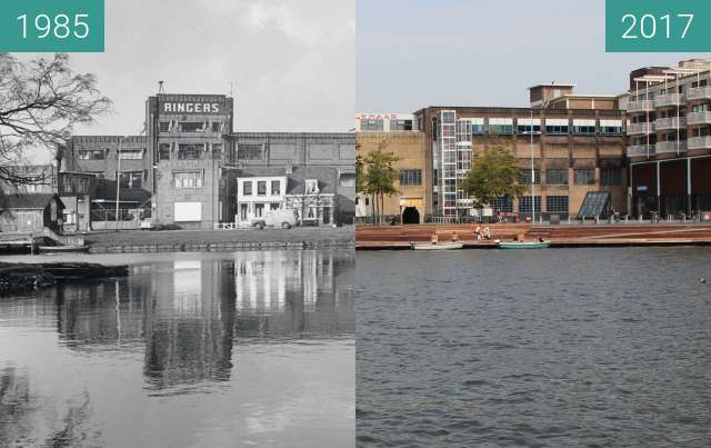 Before-and-after picture of Ringers chocolate factory between 1985 and 2017-Aug-23