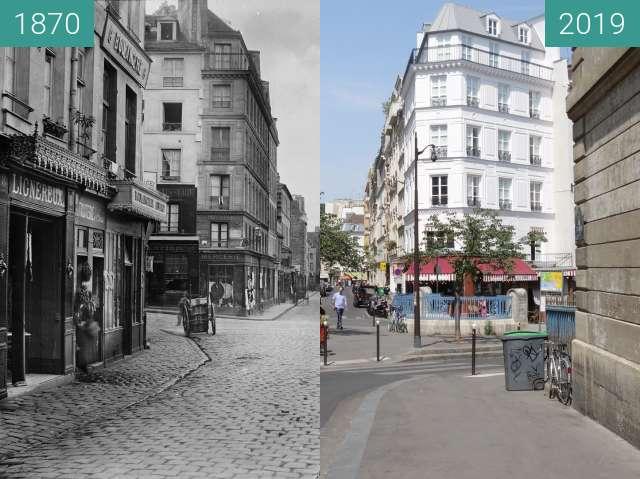 Vorher-Nachher-Bild von Rue de l'École Polytechnique zwischen 1870 und 24.07.2019