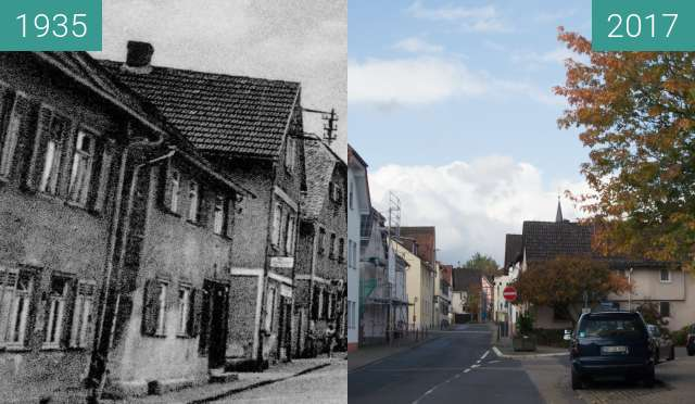 Before-and-after picture of Bad Homburg Gonzenheim, Frankfurter Landstrasse 18 between 1935 and 2017-Oct-03