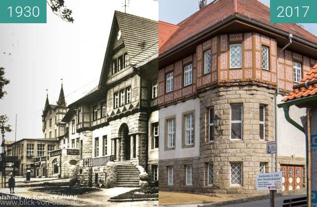 Before-and-after picture of Schierke - Das alte Rathaus between 1930 and 05/2017