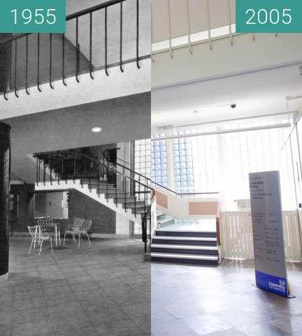 Vorher-Nachher-Bild von Charles Ward building, Coventry University zwischen 1955 und 25.05.2005
