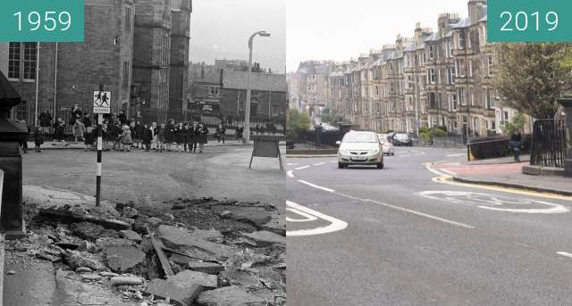 Before-and-after picture of Ashley-Bridge between 1959 and 2019-Apr-24