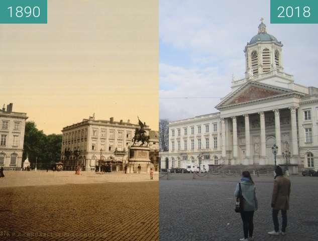 Vorher-Nachher-Bild von Place Royale zwischen 1890 und 01.04.2018