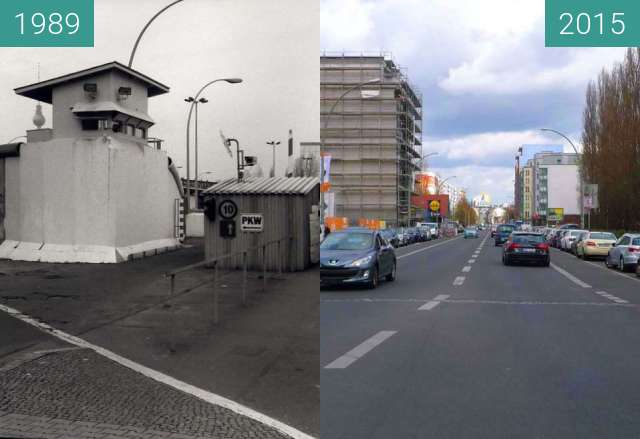 Before-and-after picture of Berlin - Prinzenstraße 1989/2015 between 1989 and 04/2015