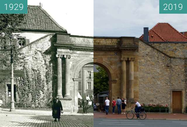 Before-and-after picture of Heger Tor between 1929 and 2019-May-28