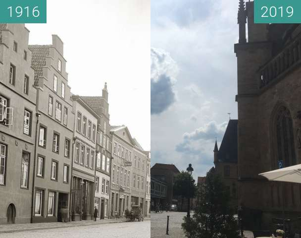 Before-and-after picture of Markt between 1916 and 2019-Jun-18