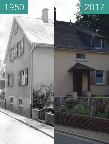 Before-and-after picture of Gonzenheim, Alt Gonzenheim 11 between 1950 and 2017-Oct-01