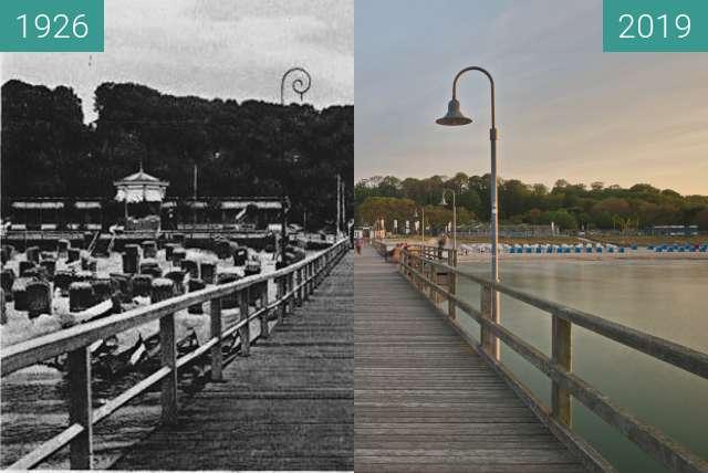 Vorher-Nachher-Bild von Goehren Seebrücke zwischen 1926 und 23.05.2019