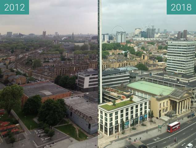 Before-and-after picture of London view between 2012-Jun-01 and 2018-Jun-01