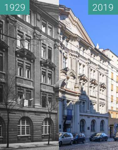 Before-and-after picture of Ulica Mielżyńskiego, TPN between 1929 and 2019-Feb-16