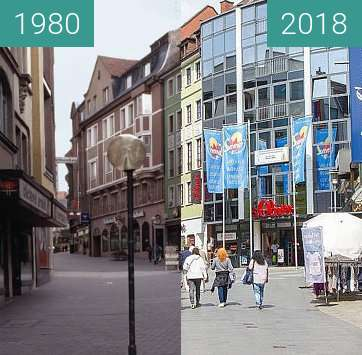 Before-and-after picture of Aschaffenburg - Herstallstraße between 1980 and 2018-May-15