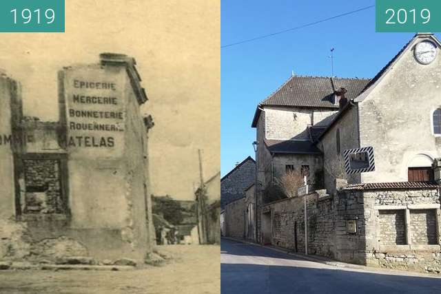 Before-and-after picture of Serzy et Prin - 1919 between 1919 and 2019