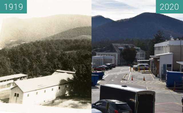 Before-and-after picture of Oteen South between 1919 and 2020