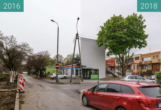 Before-and-after picture of Ulica Klin between 2016 and 2018