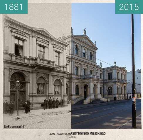 Before-and-after picture of Towarzystwo Kredytowe Miejskie between 1881 and 2015