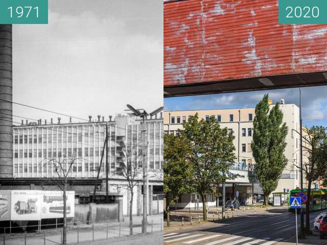 Before-and-after picture of Ulica 28 Czerwca 1956 r. between 1971 and 2020-Sep-10