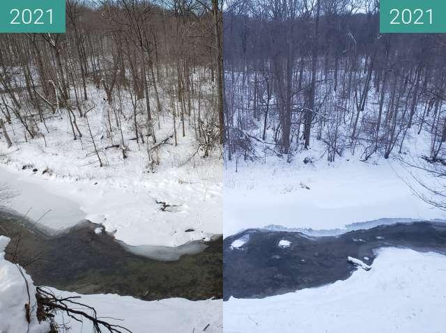Vorher-Nachher-Bild von Creek zwischen 02.02.2021 und 08.02.2021