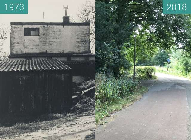 Before-and-after picture of Het Krielenzand between 1973 and 2018-Jul-11