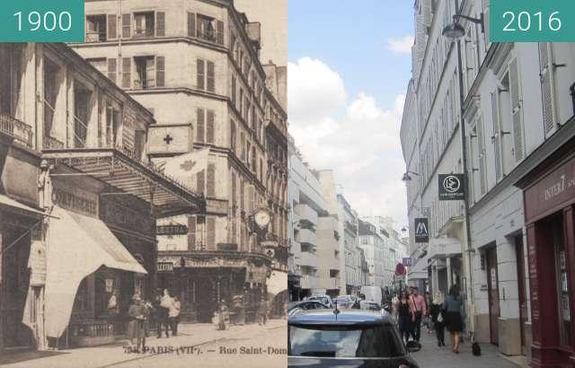 Vorher-Nachher-Bild von Rue St. Dominique zwischen 1900 und 23.09.2016