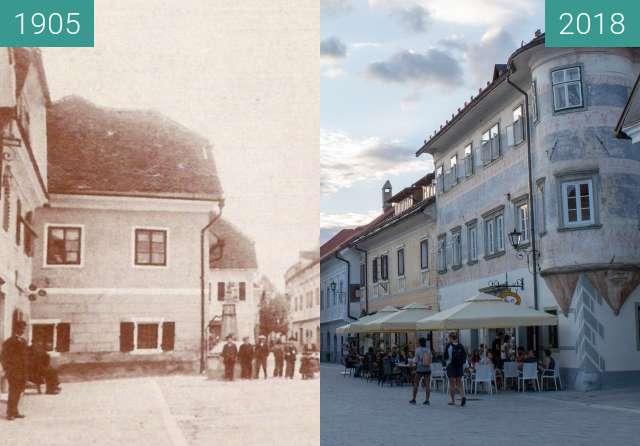 Vorher-Nachher-Bild von Linhart Square and Josepina Hočevar Memorial zwischen 1905 und 15.08.2018