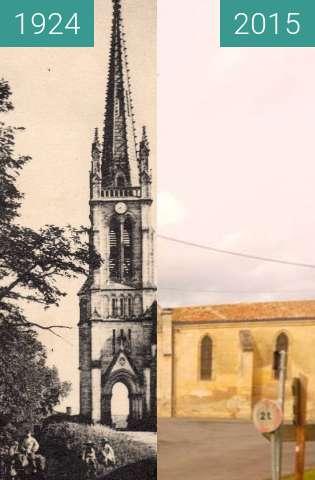 Vorher-Nachher-Bild von Eglise Saint Martin zwischen 13.08.1924 und 23.02.2015