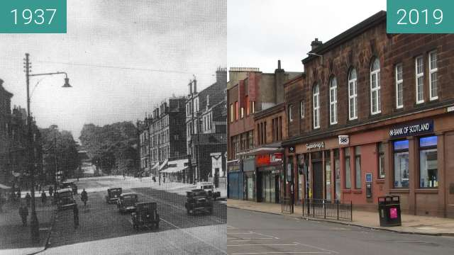 Before-and-after picture of Victoria Road between 1937 and 2019-Mar-24