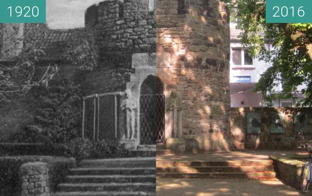Before-and-after picture of War Memorial between 1920 and 2016-Aug-27