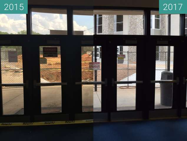 Before-and-after picture of Out the doors between 2015-Jun-18 and 2017-May-19