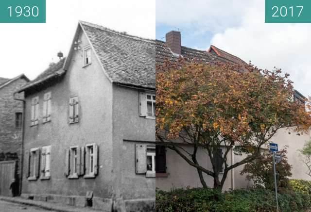 Before-and-after picture of Bad Homburg Gonzenheim, Frankfurter Landstr 89 between 1930 and 2017-Oct-03