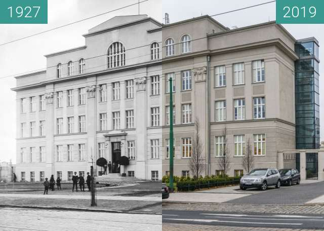 Before-and-after picture of Ulica Głogowska between 1927 and 2019-Dec-02