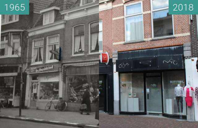 Before-and-after picture of Alkmaar Laat 138 - 144 between 1965 and 2018-Feb-27