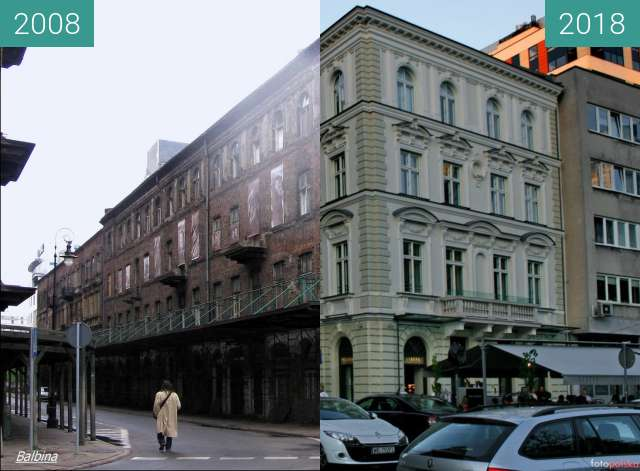 Before-and-after picture of Rebuild of some palaces between 2008 and 2018