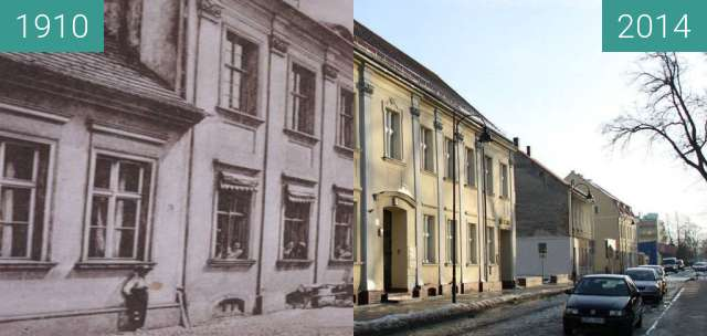 Before-and-after picture of Gryfice between 1910 and 2014