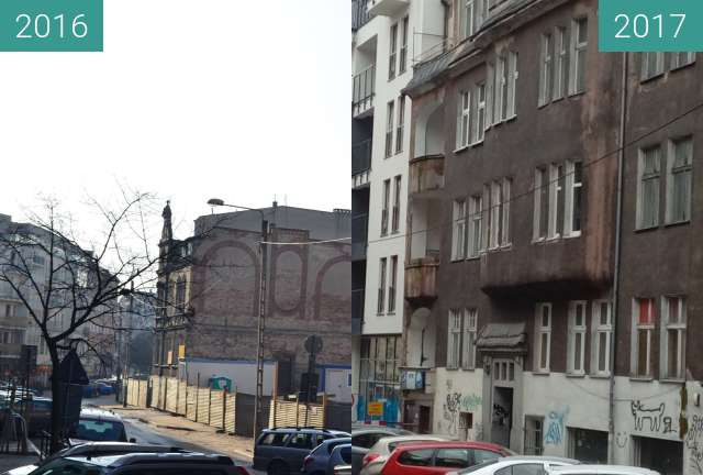 Before-and-after picture of Różana between 2016-Feb-06 and 2017-Dec-18