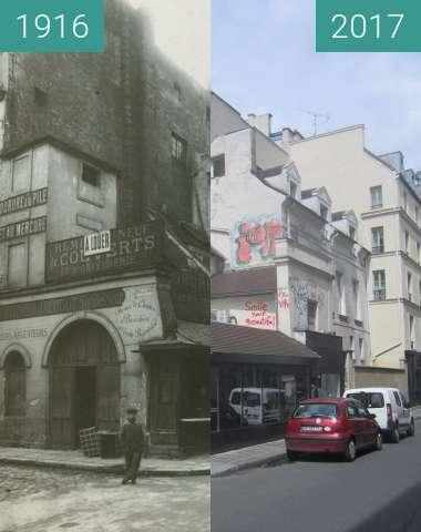 Vorher-Nachher-Bild von Rue Portefoin/rue des Archives zwischen 1916 und 01.05.2017