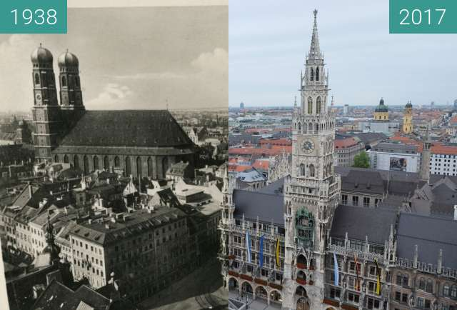 Before-and-after picture of München: Blick vom Alten Peter (3) between 1938 and 2017-Sep-09