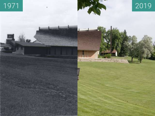 Before-and-after picture of YBGR Grounds Keeping between 1971 and 2019