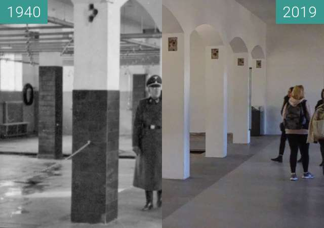 Before-and-after picture of Dachau between 1940 and 2019-Feb-14